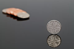 Five Pence. A Single Shiny Five Pence Coin - UK Penny Royalty Free Stock Photos