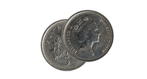 Five pence coin Royalty Free Stock Photography