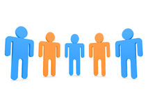 Five people. In team 3d Royalty Free Stock Photo