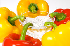 Five Peppers Royalty Free Stock Photography
