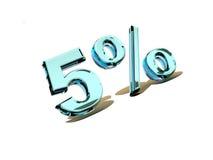 Five percent Stock Photos