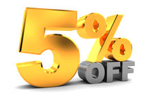 Five percent discount Royalty Free Stock Photography