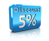 Five percent discount Royalty Free Stock Image