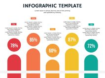 Five percentage human element ppt and infographic template stock images