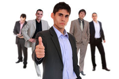 Five person business team Royalty Free Stock Photography