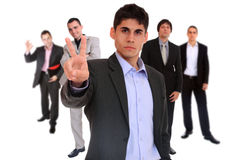 Five person business team Stock Photography