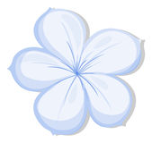 A five-petal flower. Illustration of a five-petal flower on a white background Royalty Free Stock Photo