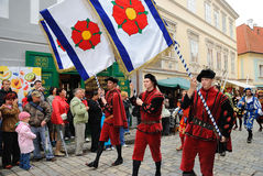 Five-petalled Rose Festival in Cesky Krumlov Stock Photos