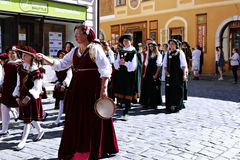 Five-petalled Rose Festival in Cesky Krumlov in the Czech Republ Royalty Free Stock Images