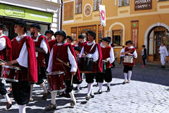 Five-petalled Rose Festival in Cesky Krumlov in the Czech Republ Royalty Free Stock Photos