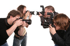 Five photographers 2 Stock Photos
