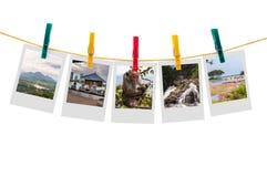 Five photos of Sri Lanka on clothesline Stock Photos