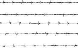 Five pieces of barbed wire. Vector illustration - five pieces of barbed wire Stock Images