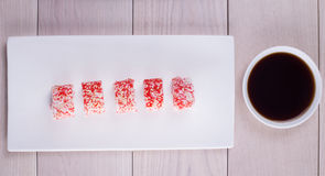 Five pieces of sushi Stock Photography