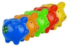 Five piggy bank Royalty Free Stock Photo