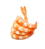 Five pink shrimp tails as OK sign Royalty Free Stock Photo