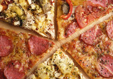 Five pizza slices Stock Image