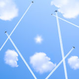 Five planes. Royalty Free Stock Images