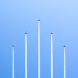 Five planes. Royalty Free Stock Photo