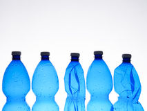Five plastic bottles Royalty Free Stock Photo