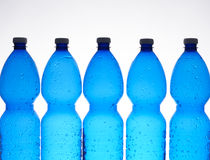 Five plastic bottles Stock Photography