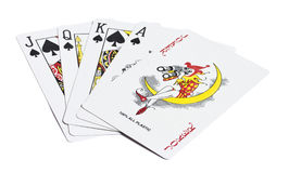 Five playing cards Royalty Free Stock Image