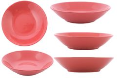 Five point of view from empty bowl Stock Photo