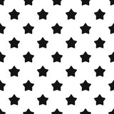 Five pointed big star pattern, simple style Royalty Free Stock Image