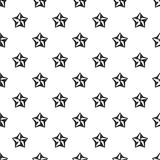 Five pointed celestial star pattern, simple style Stock Photos