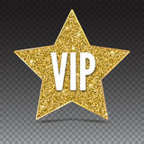 Five-pointed star with a Golden edging and the inscription VIP. Stock Images