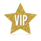 Five-pointed star with a Golden edging and the inscription VIP. Stock Image