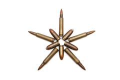 Five-pointed star made of cartridges Royalty Free Stock Photography