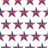 Five-pointed stars pattern on white background Royalty Free Stock Photos