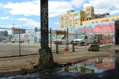 5 Pointz in New York City royalty free stock images