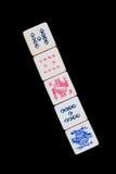 Five Poker Dice Stock Photo