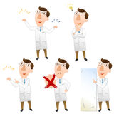 Five pose of doctor Royalty Free Stock Image