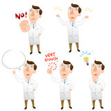 Five pose of doctor Stock Image