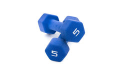 Five Pound Dumbbells Stock Photography
