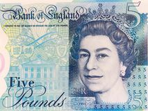 Five pound note Stock Image