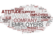 Five Qualities Employers Want Word Cloud Concept Stock Photo