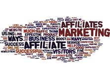 Five Quick Ways To Boost Your Affiliate Business Word Cloud Concept Royalty Free Stock Photography