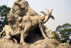 Five Rams Statue, Guangzhou, China stock photo