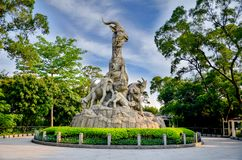 Five rams statue is the symbol of Guangzhou Canton City GuangDong China royalty free stock photography
