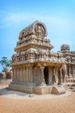 Five rathas complex in Mamallapuram Stock Images