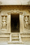 Five rathas complex with  in Mamallapuram, Tamil Nadu, India. Unesco World Heritage Royalty Free Stock Images