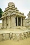 Five rathas complex with  in Mamallapuram, Tamil Nadu, India Stock Photos