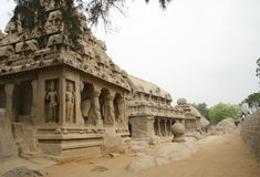 Five Rathas at Mahabalipuram, Tamil Nadu,India,Asia Stock Photo