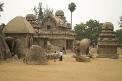 Five Rathas at Mahabalipuram, Tamil Nadu,India,Asia Stock Photos