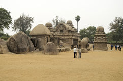 Five Rathas at Mahabalipuram, Tamil Nadu,India,Asia Royalty Free Stock Images