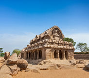 Five Rathas. Mahabalipuram, Tamil Nadu, South India Stock Images
